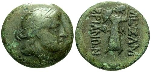 Ancient Coins - VF/VF Thrace Mesembria AE20 / Athena