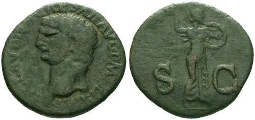 Ancient Coins - VF/EF Claudius Dupondis / Minerva