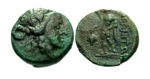 Ancient Coins - aVF/gF Thrace Maroneia AE19 / Dionysos