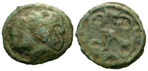 Ancient Coins - VF/VF Rare Durocasses Tribe Potin