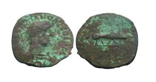Ancient Coins - F Trajan Barbarous Quadrans / CatDog