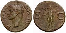 Ancient Coins - Agrippa Æ AS / Neptune