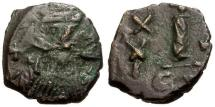 Ancient Coins - VF/VF Byzantine Empire, Constans II Æ Decanummium / Constantinople mint