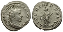 Ancient Coins - Trebonianus Gallus AR Antoninianus / Libertas