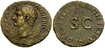 Ancient Coins - Drusus Caesar Æ AS