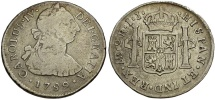 Peru. Charles IV AR 2 Reales