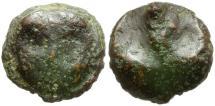 Ancient Coins - Sicily. Selinus Æ Cast Tetras / Celery Leaf