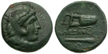 Ancient Coins - Kings of Macedon.  Alexander III The Great Æ18 / Bow Case and Club