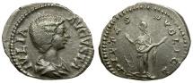 Ancient Coins - Julia Domna AR Denarius / Pietas