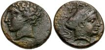 Ancient Coins - Thessaly. Phalanna Æ Dichalkon / Nymph