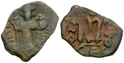 Ancient Coins - *Sear 1005* Byzantine Empire. Constans II (AD 641-668) Æ Follis
