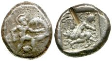 Ancient Coins - Pamphylia. Aspendos AR Stater / Hoplite