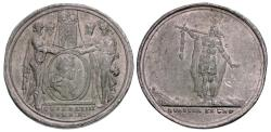 World Coins - Britain. William & Mary 45mm Pewter Commemorative Medal by Jan Luder
