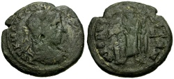 Ancient Coins - Severus Alexander, Moesia Inferior, Dionysopolis Æ 4 Assaria / Great god sacrificing