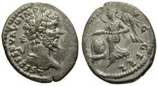 Ancient Coins - Septimius Severus AR Denarius / Victory