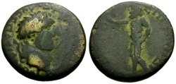 Ancient Coins - Vespasian, Phrygia, Cotiaeon Magistrate Ti. Claudius Secundus Æ19 / Zeus