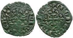 World Coins - France. Charles IV Billon Double Parisis