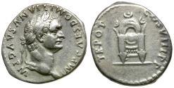 Ancient Coins - Domitian (AD 81-96)  AR Denarius / Throne