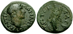 Ancient Coins - Hadrian, Cilicia, Laerte Æ20 / Tyche