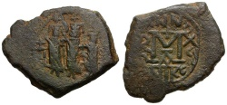 Ancient Coins - Byzantine Empire. Heraclius, Heraclius Constantine and Martina Æ Follis