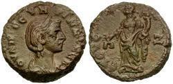 Ancient Coins - Severina. Egypt. Alexandria Potin Tetradrachm / Dikaiosyne