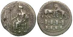 Ancient Coins - Cilicia. Tarsos. Satrap of Cilicia. Mazaios (361-334 BC) AR Stater / Walls of Jerusalem