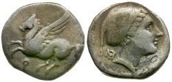 Ancient Coins - Corinthia. Corinth AR Drachm / Pegasus