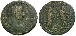 Ancient Coins - Trebonianus Gallus. Cilicia. Tarsos Æ31 / Emperor and Tyche
