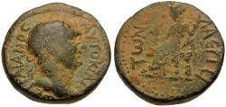 Ancient Coins - Trajan (AD 98-117). Cilicia. Laertes Æ17 / Demeter Seated