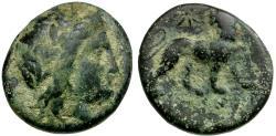 Ancient Coins - Ionia. Miletos Æ17 / Lion