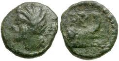 Ancient Coins - Sicily. Panormos Æ12 / Prow