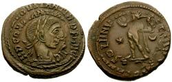 Ancient Coins - Constantine I The Great Æ Follis / Double struck