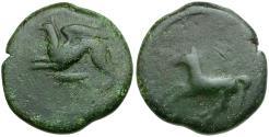 Ancient Coins - Sicily. Alaesa Æ Tetras / Griffin & Grasshopper