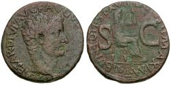 Ancient Coins - Tiberius (AD 14-37) Æ AS / Livia seated