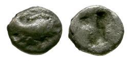 Ancient Coins - gF/gF Ionia, Klazomenai AR Tetartemorion / Winged boar