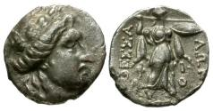 Ancient Coins - VF/VF Thessaly Thessalian League AR Drachm / Athena