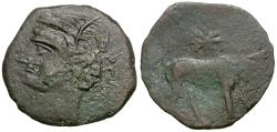 Ancient Coins - Islands off Sicily. Sardinia under Punic Occupation Æ19 / Second Punic War