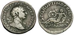 Ancient Coins - Trajan (AD 98-117) AR Denarius / Via Traiana