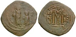 Ancient Coins - *Sear 805* Byzantine Empire. Heraclius (AD 610-641) Æ Follis