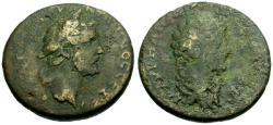 Ancient Coins - F/F Antoninus Pius and Marcus Aurelius as Caesar, Koinon of Cyprus Æ32