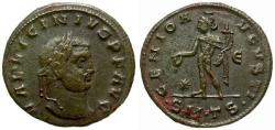 Ancient Coins - aVF/VF Licinius I Æ Follis / Genius