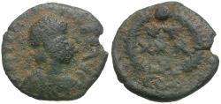 Ancient Coins - Theodosius II (AD 408-450) Æ4 / Wreath