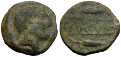 Ancient Coins - Spain.  Carmo Æ24 / Male head