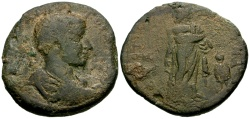Ancient Coins - Gordian III, Cilicia Tarsos Æ34 / Asklepios and Telesphorus