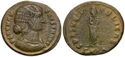 Ancient Coins - Fausta Æ Follis / Spes with Infants