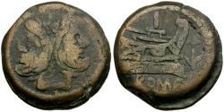 Ancient Coins - 209-208 BC - Roman Republic. Anonymous Æ AS / Anchor