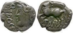 Ancient Coins - Ancient France. Celtic Gaul. Sequani AR Denier / Q DOCI