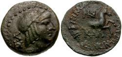 Ancient Coins - Cilicia. Seleucia ad Calycadnum Æ18 / Horse