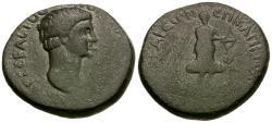 Ancient Coins - Nero (AD 54-68). Lydia. Hierocaesarea. Capito, high priest Æ19 / Artemis