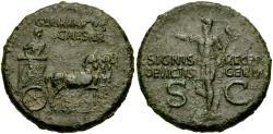 Ancient Coins - Germanicus (Died AD 19) Struck under Gaius (Caligula). Æ Dupondius
